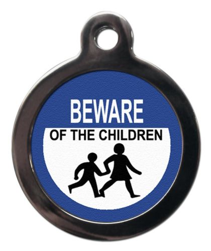 Pet ID Tag BEWARE OF THE CHILDREN